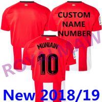 Wholesale cheap athletic shorts - Cheap Wholesale 2018 19 Athletic Shirt ADURIZ Soccer Jersey 2019 MUNIAIN WILLIAMS Camiseta de Futbol Home Red White Football T-shirt Camisa