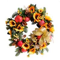fruta de ação de graças venda por atacado-Guirlanda de frutas de girassol série outono para o dia de ação de Graças
