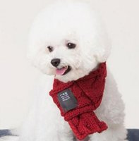 accessories for red dresses NZ - Winter Dog Scarf Warm Scarves for Small Medium Dogs Puppy Bow Tie Dogs Collars Pet Products Accessories