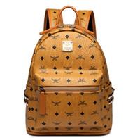 mochilas de halloween al por mayor-Cuero genuino de alta calidad 3 tamaño 2018 marca de lujo de los hombres de las mujeres Mochila Mochila diseñador señora mochilas Bolsos Mujeres Hombres mochila