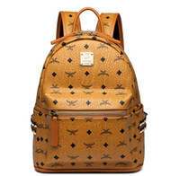 730c68a90916a Hakiki Deri Yüksek Kalite 3 boyutu 2018 Lüks Marka erkek kadın Sırt Çantası  ünlü Sırt Çantası Tasarımcı lady sırt Çantaları Kadın Erkek geri paketi