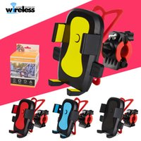 Wholesale motorcycle bike handlebar resale online - Universal Rotation Bike Bicycle Motorcycle Handlebar Mount Holder Phone Holder With Silicone Support Band For Iphone Samsung GPS