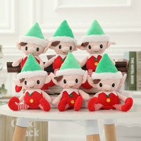 shelf elf venda por atacado-Natal Elfo De Papai Noel Brinquedos De Pelúcia 30 cm Bonito Espírito de Natal Boneca Elf Na Prateleira de Natal de Pelúcia Boneca de Pelúcia Presentes Do Bebê Santa Deco Elfos Brinquedos