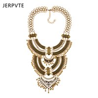Wholesale statement necklaces for sale - JERPVTE Bohemian Power Necklace Collar Choker Gold Necklace Vintage Gypsy Ethnic Statement Maxi Jewelry For Women