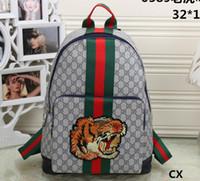 a55f3a0c7fd Wholesale tiger backpacks for sale - G G Men Women Backpack Fashion  Embroidery Tiger Cat head Designer