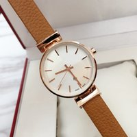 Wholesale girls watches for sale - 2019 Fashion Women Dress Watch famous nice Casual Genuine leather clock Relogio Feminino Luxury Lady Quartz Female Wristwatch gift for girl