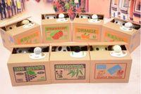 ingrosso banca salvadanaio panda box-Piggy Bank Panda Bamboo Stola Automatica Coin Panda cat Automatic Stealing Coin Salvadanaio Salvadanaio per bambino