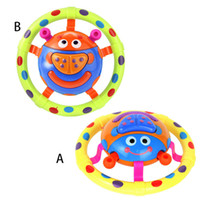 Wholesale funny baby sounds - 1pc Lovely Musical Animal Baby Rattles Grasping Light Sound Intelligence Training Xmas Birthday Gift Funny Games Toys