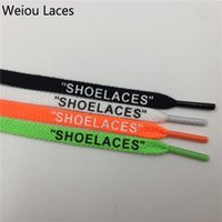 "Wholesale Polyester Shoelaces - Weiou New Fashion Double Side Printing Single Head Flat Cotton Polyester 'SHOELACES"" White Black Green Orange Colored Shoelace"