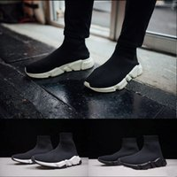 Wholesale cotton dress socks women - Luxury Sock Shoes Men Women Fashion Sock Shoes Sneakers Sock Race Runners black GOOD Shoes Round Toe Top Sneakers athletic DRESS