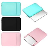 Wholesale 11 Inch Tablet Sleeve - Laptop Sleeve Case Bag Soft inside Bag for Macbook 11 12 13 15 15.6 inch Samsung Tablet High Quality