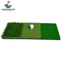 indoor-golf-trainingshilfen großhandel-12''x24''Golf Schlagmatte Indoor Outdoor Hinterhof Tri-Turf Golf Matte mit Tees Loch Praxis Golf Protable Trainingshilfen