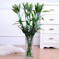 ingrosso fortunati piante di bambù-92 centimetri di fiore di seta artificiale pastorale pianta di bambù verde fortunato per la decorazione domestica dell'ufficio della camera da letto del salotto 6pcs / Lot