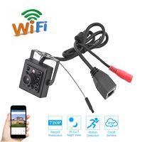Wholesale cctv box ip camera - Mini Security Camera Wifi IR Leds Light Night Vision Wireless IP Camera CCTV Surveillance 720P 960P 1080P Metal Box