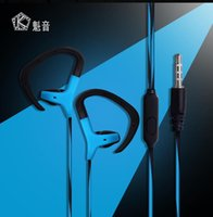 Wholesale Headphone Control Sport - Headphone with Microphone 3.5mm Wired Earphone Portable Sport Running Stereo Headphone Remote Control With Black Or White Color