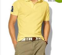 tamaño hombre polo al por mayor-2018 Gran Tamaño S-6XL Polo Camisa de Caballo Grande Camisa Sólido de Manga Corta Verano Casual Camisas Polo Para Hombre Envío Gratis