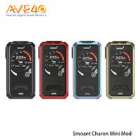 Wholesale battery vv vw mod online - 100 Original Smoant Charon Mini w Box Mod VV VW TC with UI screen Powered by dual Battery