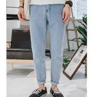 Wholesale cowboy trousers - New 2018 Fashion new student original designer popular loose light color jeans male feet harem pants hip hop Denim cowboy trousers