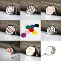 Wholesale lockets online - Men Stainless Steel Jewelry Necklace Aromatherapy Essential Oil Surgical Perfume Diffuser Locket Pendant Women Mens Chain Necklace
