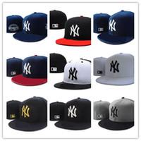 nuevo sombrero para hombre al por mayor-De Buena Calidad nuevos New York Equipados Sombreros para hombres mujeres deportes hip hop mens bones sun hats