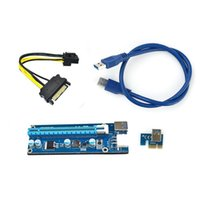 16 x pci e uzatma kablosu toptan satış-MLLSE 1 ADET USB3.0 PCI-E 1-16X ETH GPU Madencilik AA3989 Için Yükseltme Adaptörü Kart Uzatma Kablosu