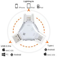 m2 connector NZ - Multi card in 1 USB 2.0 adapter connector micro SD TF M2 memory stick MS Duo RS-MMC memory card reader for IOS,Android,PC,Type-c interface