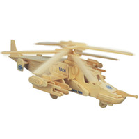 Wholesale old plane models for sale - Group buy Reconnaissance Aircraft Fighters Planes Helicopters Wooden Jigsaw D Simulation Model DIY Stereo Jigsaw Puzzle Children Uni