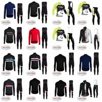 Wholesale cycling jersey sets winter - SIDI RAPHA team Cycling Winter Thermal Fleece jersey (bib) pants sets New arrival pre team outdoor bicycle clothing sportswear F0719