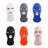 tam yüz maskesi toptan satış-Tam Yüz Maskesi UV Koruma Işık ve Açık Spor Sürme Bisiklet Windproof Toz Geçirmez Güneş Blok için Nefes