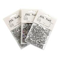 berrak sanat çantaları toptan satış-1200 Adet / torba Multisize Nail Art Parlak Rhinestones Boncuk Akrilik Crystal Clear AB Renk 3D DIY Süslemeleri Flatback Cam Taş