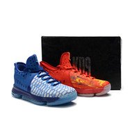 Wholesale Kd Mens - 2018 New Kevin Durant IX Zoom KD 9 Fire & Ice EP Elite Mens Basketball Running Designer Shoes Trainers Sneakers