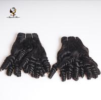 mejor pelo humano rizo brasileño al por mayor-Barato mejor calidad fábrica directamente brasileño cabello humano Funmi Curl Hair Weave