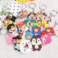 Discount minion bags - Mix Anime Minions Spider Keychain Superman Silicone PVC Key chain figure pendant Keyring kids toy for Women car bag Pendant jewelry Gift