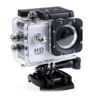 su geçirmez dv toptan satış-SJ4000 1080 P Kask Spor DVR DV Video Araba Kam Full HD DV Eylem Su Geçirmez Sualtı 30 M Kamera Kamera Renkli 2018