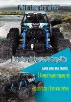 mini-wasserfahrzeuge großhandel-Super super große Sechs-Drive-Land und Wasser High-Speed-Kletterfahrzeug ferngesteuertes Fahrzeug Geländewagen Aufladung Spielzeug-Rennwagen