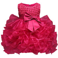Wholesale christening clothes for kids for sale - Group buy Toddler Girl Christening Gown Dress Infant Baptism Clothes Kids Party Costume For Baby Girl st Birthday Newborn Bebes Vestido