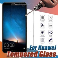 huawei honor screen guard оптовых-Закаленное Стекло Премиум Протектор Экрана Защитная Пленка Гвардии Для Huawei P20 Pro Lite P10 Plus Mate 10 9 Honor V10 Note 8 Nova 2 Y9 Y7 Prime