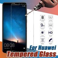 huawei honor screen guard оптовых-Закаленное стекло Premium Защитная пленка для защиты экрана Защитная пленка для Huawei P20 Pro Lite P10 Plus Mate 10 9 Honor V10 Примечание 8 Nova 2 Y9 Y7 Prime