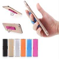 эластичный ремешок для телефона оптовых-Новые для iPhone для Samsung палец сцепление резинка ремешок Универсальный держатель телефона кольцо с подставкой для мобильных телефонов таблетки