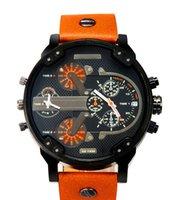 mode-displays großhandel-Sport Herrenuhren Große Zifferblatt Display Top-marke Luxusuhr Quarzuhr Stahlband 7333 Mode Armbanduhren Für Männer