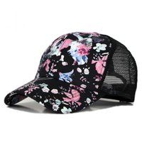 Wholesale womans 4 resale online - 4 Colors Brand Flowers Printing Baseball Cap Adjustable Fashion Womans Girls Summer Snapback Hip Hop Caps