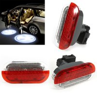 Wholesale Cars Parts Wholesale - NEW Car Led Lamp Door Panel Warning Light Welcome Projector For Volkswagen Bora Golf4 MK4 Polo Jetta 98-05 Lights Parts Lamps GGA206