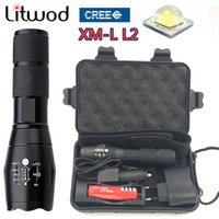 Wholesale Choose Work - Z10 Led Flashlight XM-L2 Adjustable Waterproof Led Torch light zoomable Tactical High-quality aluminum alloy material choose accessories
