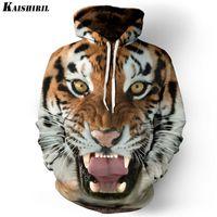 Wholesale tiger 3d sweatshirt men - Men 'S Hoodies Sweatshirt Men Funny 3d Tiger Lion Fashion Harajuku Brand Plus Size S -3xl Printed Hoodie Men Women Pullovers