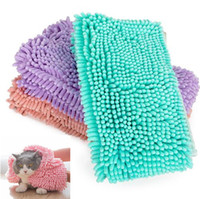 Wholesale puppy dog towels - 3 Colors Pet Absorbent Towel Puppy Dog Cat Shower Bath Towel Quick Drying Towel Dog Grooming Cleaning Pet Product CCA10065 15pcs