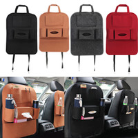 Wholesale pocket for phone car resale online - Auto Car Seat Bag Organizer Multi Pocket Storage Bag Car Seat Cover Seat Back Box Organizer Holder For Phone Book Car Styling