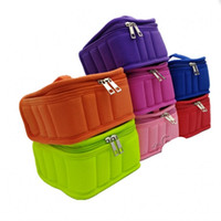 Wholesale breast holder - Portable Colors Storage Bag Carrying Holder Women Travel Nail Polish Organizer Fashion 13 Lattice Casket High Quality 28df WW