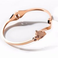 bracelet de renard achat en gros de-bracelets bijoux de créateurs pour les femmes renard bracelets plaqué or rose 18 carats chaude mode livraison gratuite