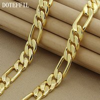 Wholesale 22 inch necklace resale online - High Fashion mm Inches Gold Chain Link Necklace Chunky Males Jewelry k Vacuum Plating High Quality