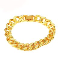 design de corrente de ouro novo para o homem venda por atacado-(314B) (20 cm x 8mm 11mm) Pesado Cadeia Pulseira Jóias Para Homens Da Moda 24 k Banhado A Ouro Novos Projetos de Alergia Livre